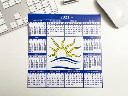 2021 Calendar Magnet - alternate angle